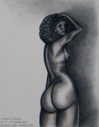 Afro and big booty sketch
