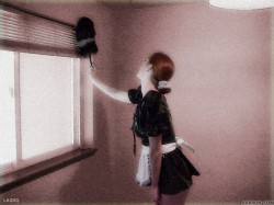 Untitled French maid themed photo manipulation