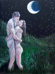 Star Songs erotic sensual painting by Aarron Laidig