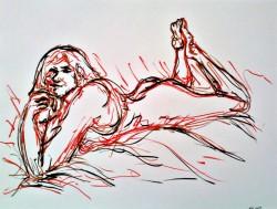 figure sketch in ink