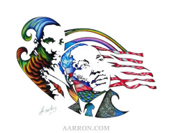 MLK HOMAGE COLORED PENCIL ART