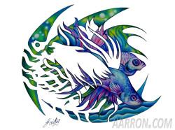 Siamese fighting fish Aarron Style Art