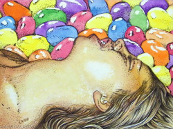 jellybean mixed media erotic art
