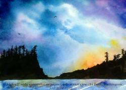 La Push watercolor scene