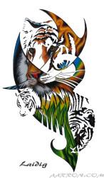 Sumatran Tiger artwork by Aarron Laidig