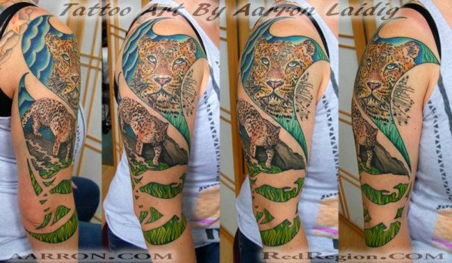 Amur leopards by Aarron Laidig