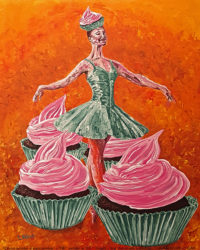 Chocolate cupcakes art