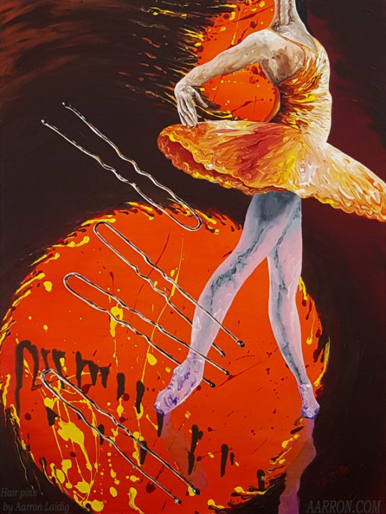 hair pins ballet painting by Aarron Laidig