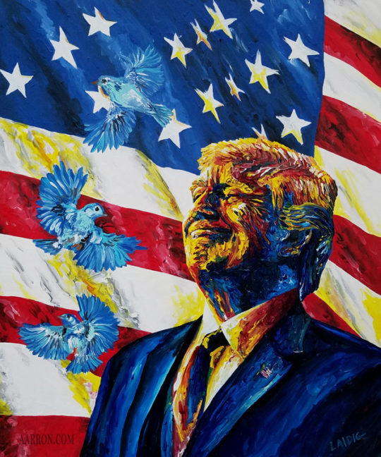 Tweet Trump Painting by Aarron Laidig