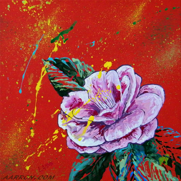 floral painting by Aarron Laidig