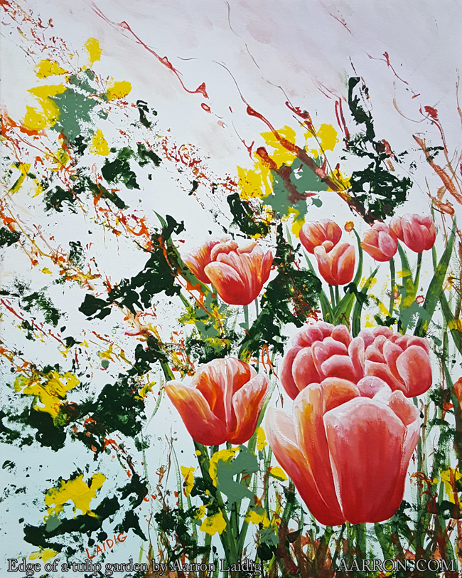 Edge Of A Tulip Garden Painting by Aarron Laidig