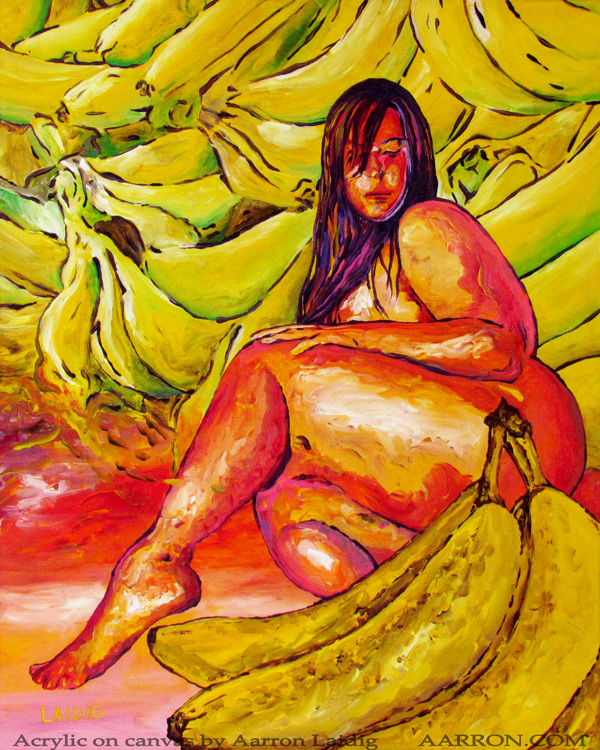 Banana Boat original painting on canvas