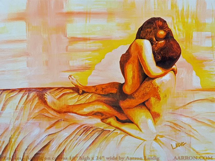 embers twin flame lovers painting