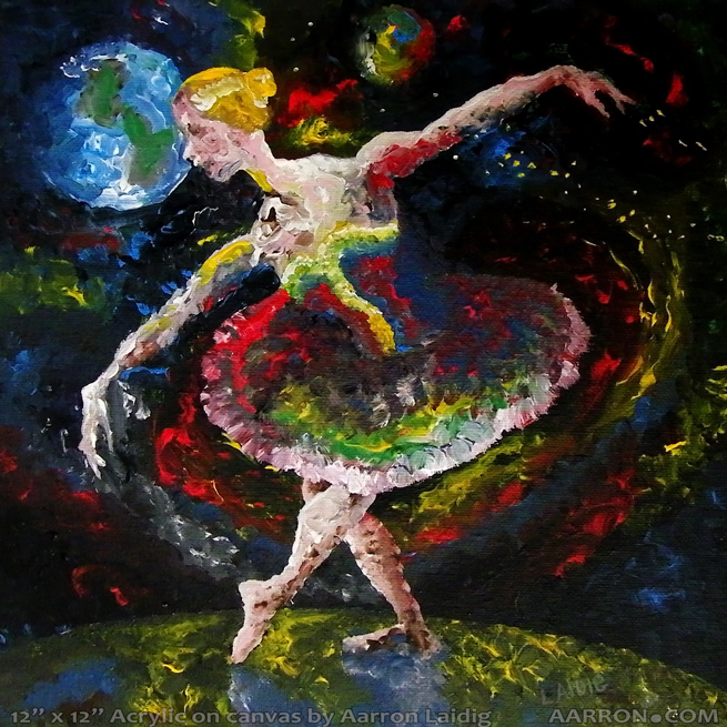 la de da de da fine art dance painting original by aarron Laidig