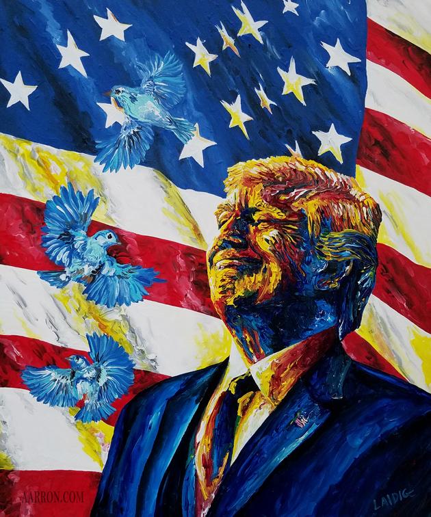 Tweet Trump Painting by Aarron Laidig